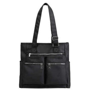 Obangbag Black Waterproof Women's Large Capacity Canvas Travel Shoulder Bag Tote Bag