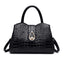 Obangbag Black Woman crocodile pattern women shoulder bag soft leather cross-body bag handbag