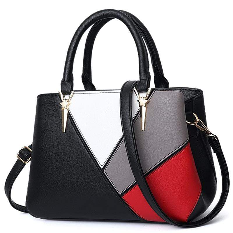 Obangbag Black Women Cute Stylish Professional Multi Pockets PU Leather Handbag Shoulder Bag Crossbudy Bag for Work
