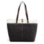Obangbag Black Women Daily Casual Large Capacity Lightweight Canvas Handbag Tote Bag Shoulder Bag