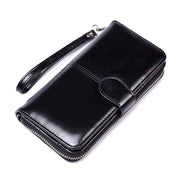 Obangbag Black Women Faux Leather  Long Clutch Bag Wallet Card Holder