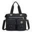Obangbag Black Women Large Capacity Travel Handbag Anti Splashing Water Ladies Shoulder Bag