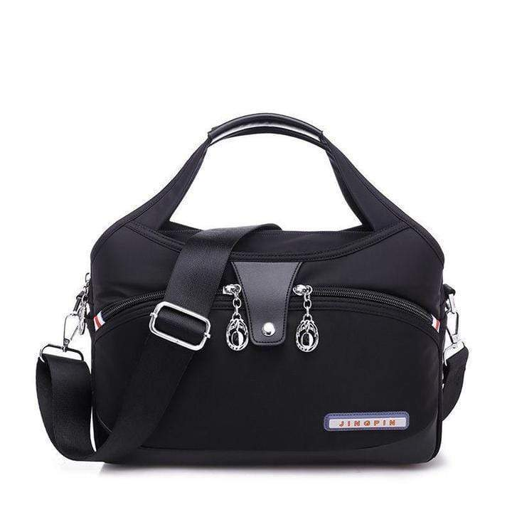 Obangbag black Women Oxford Elegant Large Capacity Satchel Bag