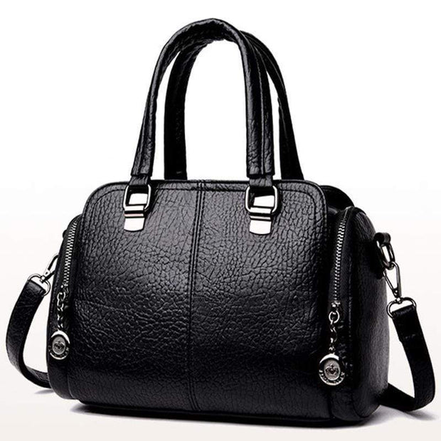 Obangbag black Women's Handbag Solid Color All Matched Elegant Large Capacity Bag