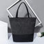 Obangbag Black Women Simple Vintage Roomy Patchwork Gradient Leather Bucket Bag Tote Bag Handbag
