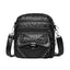 Obangbag Black Women Vintage Chic Mini Multi Pockets Lightweight Soft Leather Crossbody Bag Shoulder Bag