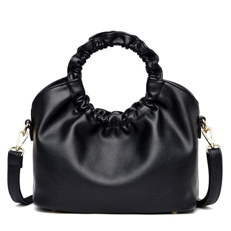 Obangbag Black Women Vintage Designer Elegant Chic Lightweight Large Capacity Solf Leather Handbag Shoulder Bag Crossbody Bag