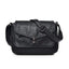 Obangbag Black Women Vintage Elegant Roomy Multi Pockets Professional Soft Leather Crossbody Bag