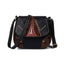 Obangbag Black Women Vintage Retro Cute PU Leather Crossbody Bag Shoulder Bag