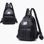Obangbag Black Women Vintage Roomy Lightweight Waterproof Soft Leather Backpack for Work for Travel