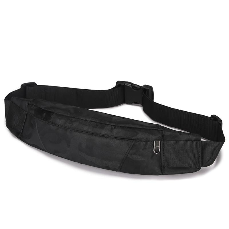 Obangbag Black1 Men Stylish Multifunction Roomy Casual Sports Outdoor Oxford Waterproof Fanny Pack Waist Bag
