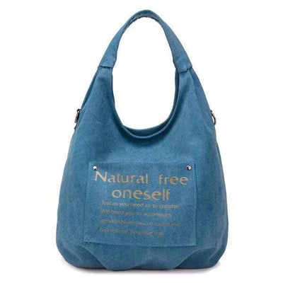 Obangbag blue Canvas Waterproof  Casual Tote Bag