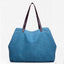 Obangbag blue Large Capacity Casual School Teacher Canvas Tote Bags
