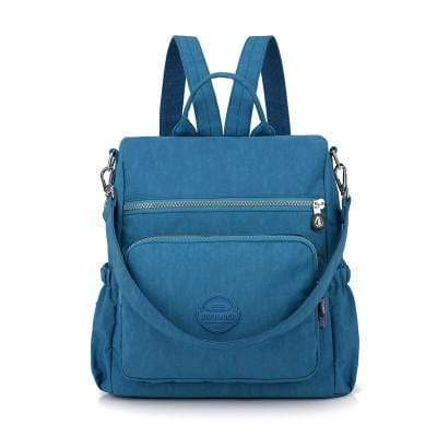 Obangbag Blue Multifunctional Ladies Shoulder Bag Wild Travel Waterproof Nylon Large Capacity Backpack