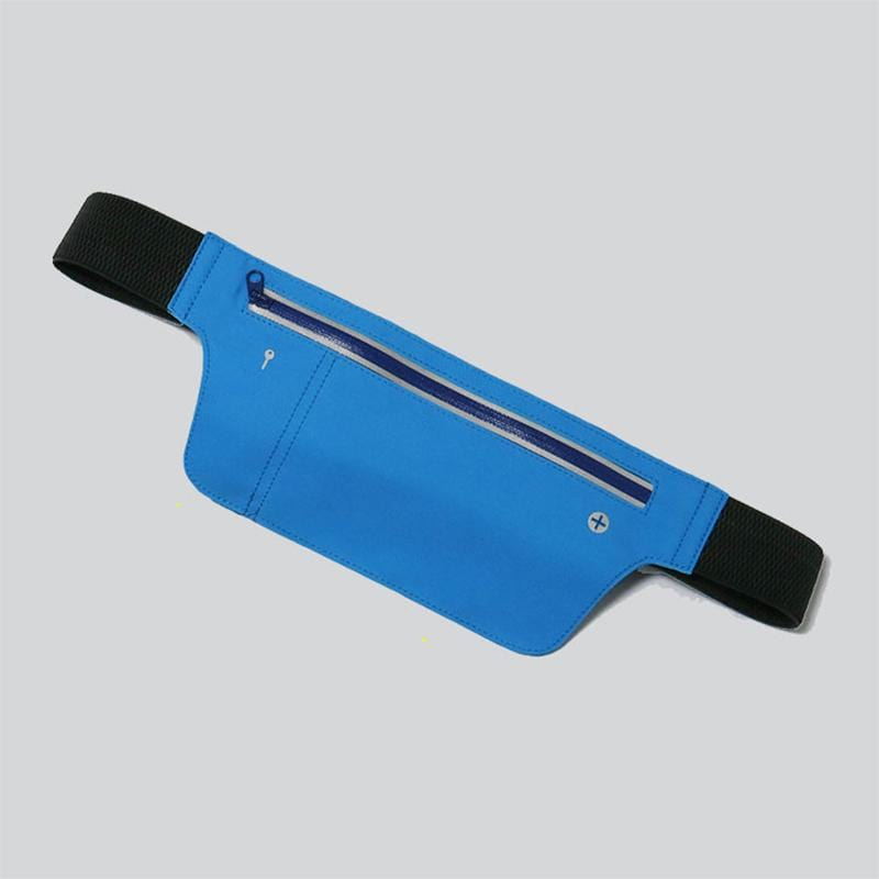 Obangbag Blue Unisex Chic Sports Multifunction Outdoor Running Lycar Waterproof Fanny Pack Waist Bag