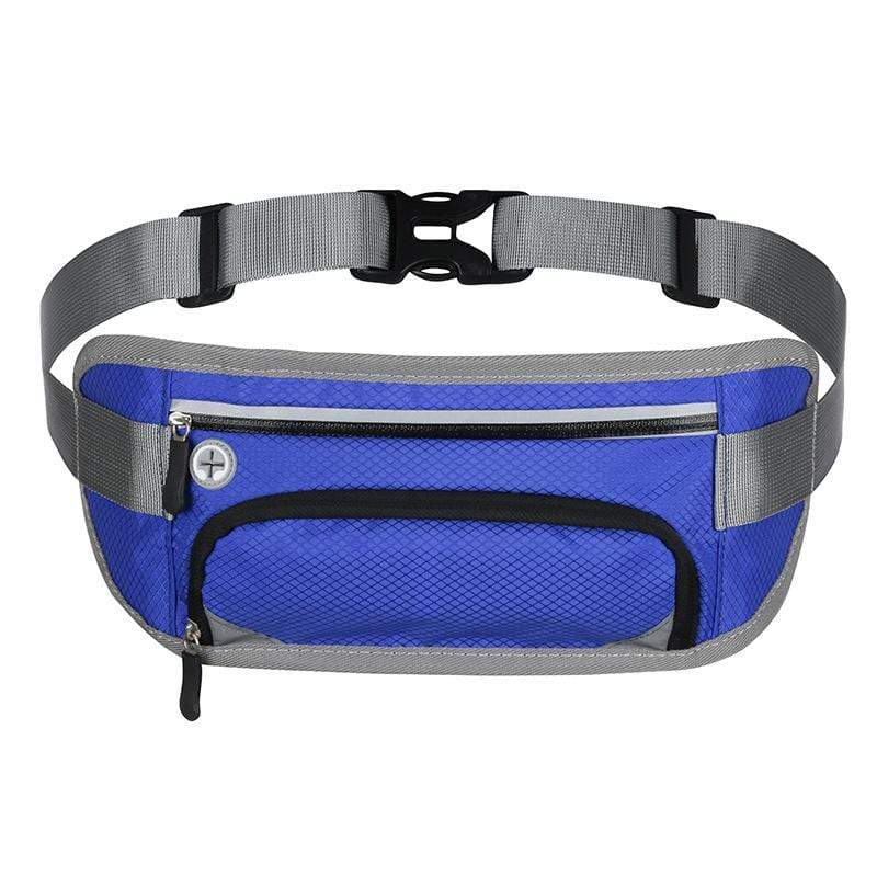 Obangbag Blue Unisex Large Capacity Earphone Access Outdoor Waterproof Fanny Pack Waist Bag for Sport