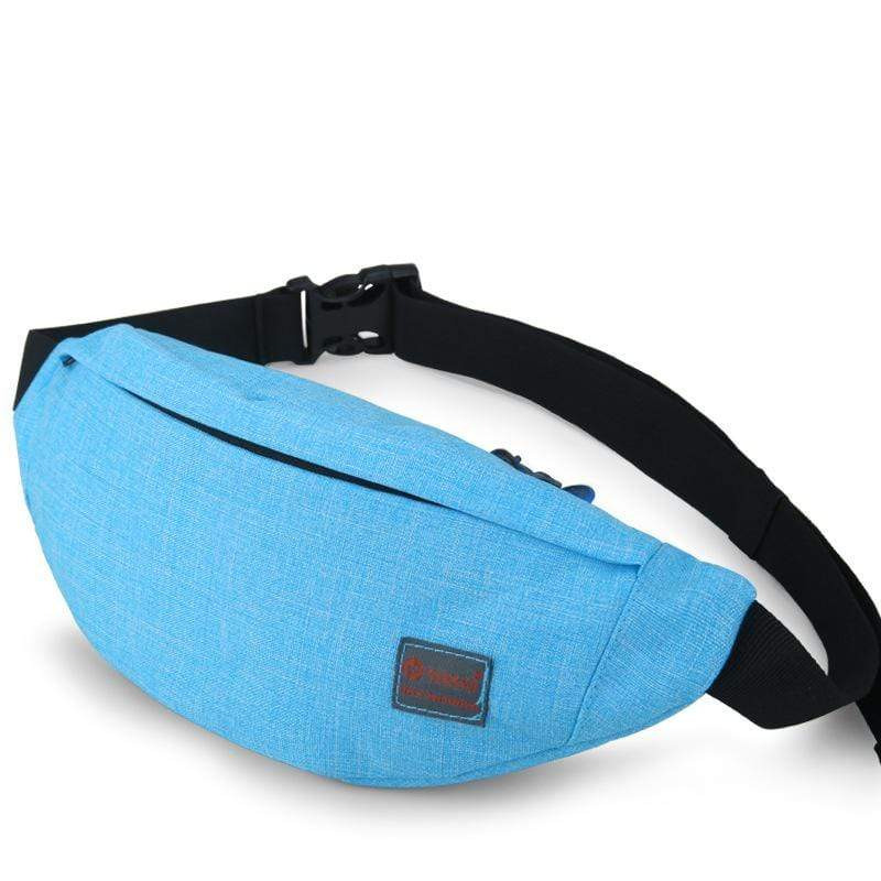 Obangbag Blue Unisex Lightweight Multifunction Casual Sports Outdoor Waterproof Fanny Pack Phone Bag