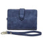 Obangbag Blue Women Chic Elegant Multi Layers Roomy Lightweight Leather Wallet Clutch Bag