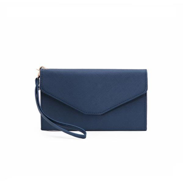 Obangbag Blue Women Chic Stylish Cute Multi Pockets Wallet Purse Card Holder