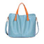 Obangbag Blue Women Chic Vintage Large Capacity Multifunction Casual Soft Leather Tote Bag Handbag