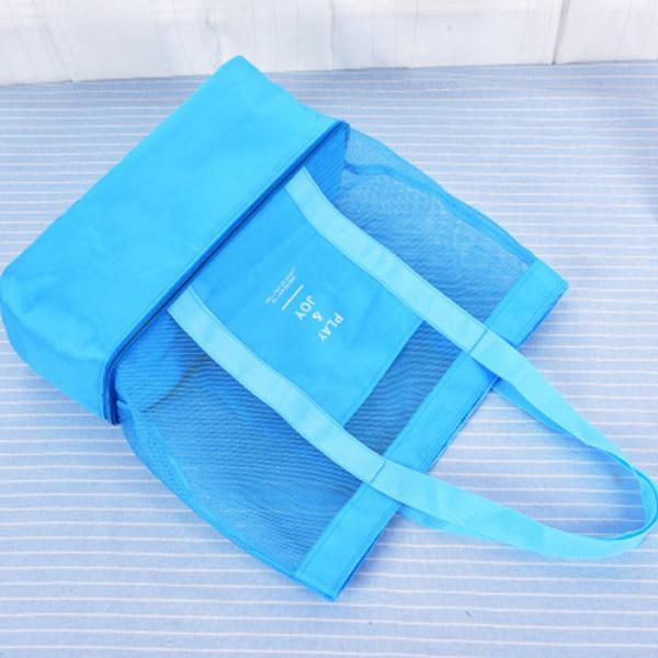 Obangbag Blue Women Fashion Outdoor Multifunction Roomy Sports Picnic Nylon Storage Bag Shoulder Bag