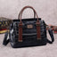 Obangbag Blue Women Vintage Crocodile Pattern Leather Handbag Multi Pockets Shoulder Bag