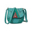 Obangbag Blue Women Vintage Retro Cute PU Leather Crossbody Bag Shoulder Bag