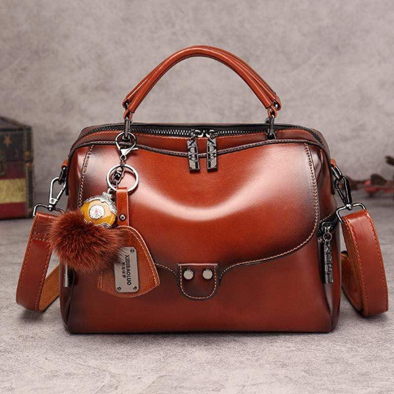 Obangbag Brown 2020 new retro fashion wild shoulder shoulder messenger handbag