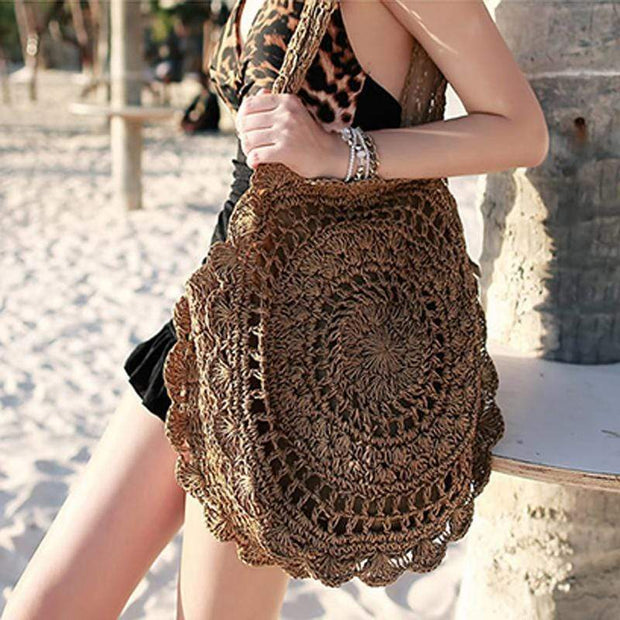 Obangbag Brown-B Vietnamese Summer Fashion Handmade Rattan Bag
