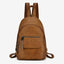 Obangbag brown Hot Sale Large Capacity Multi Function Pockets Vintage Leather Backpack