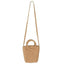 Obangbag brown Ladies Summer Holiday Woven Straw Rattan Beach Bag Mini Cute Small Bag Handbag
