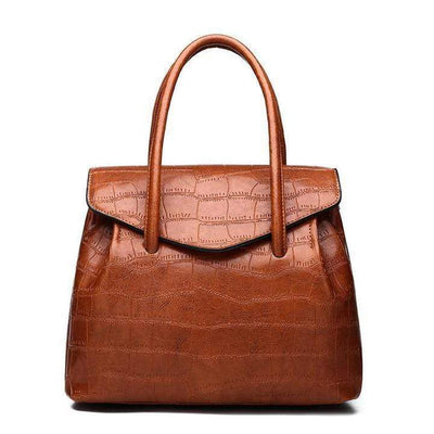 Obangbag brown Ladies Work Big Capacity Vintage Leather Tote Bag