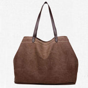 Obangbag brown Large Capacity Casual School Teacher Canvas Tote Bags