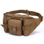 Obangbag Brown Men Multifunction Multi Pockets Roomy Outdoor Waterproof Waist Bag for Sport