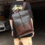 Obangbag Brown Men Retro Style Vintage PU Leather Backpack for Travel for School