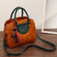 Obangbag Brown Multi Pockets Retro Vintage Classical Oil Wax Leather Handbag
