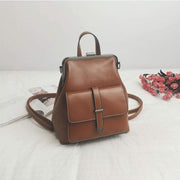 Obangbag Brown Multifunction Retro Vintage Backpack Shoulder Bag Backpack