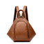 Obangbag Brown Multifunction Women Leather Backpack Large Capacity Deformable Stylish Shoulder Bag
