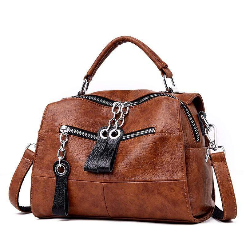 Obangbag brown Multifunctional Large Capacity Fashion Shoulder Bag Messenger Bag