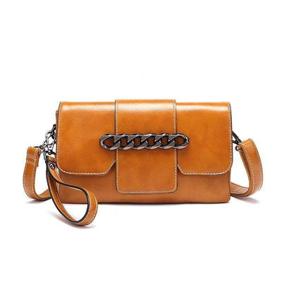 Obangbag Brown Retro Leather Mini Crossbody Bag Handbag Shoulder Bag Party Bag Phone Bag