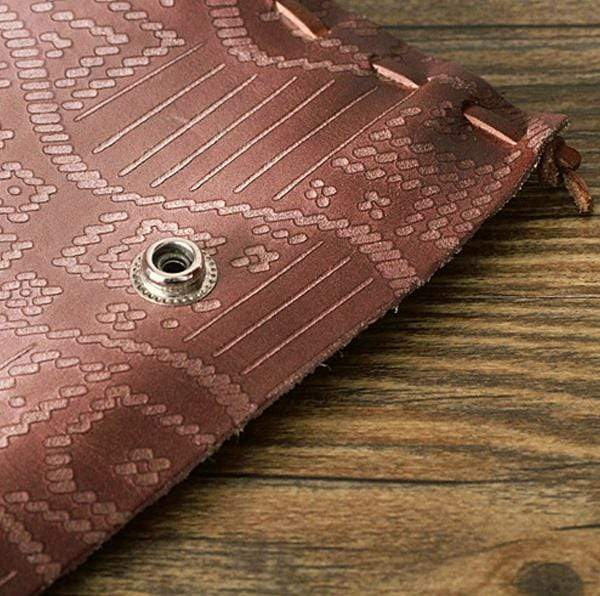Obangbag Brown Unisex Vintage Retro Handmade Leather Long Wallet Clutch Bag Purse