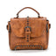 Obangbag Brown Vintage Oil Leather Luxury Handbags Retro Shoulder Bag