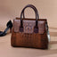 Obangbag Brown Woman retro fashion multi-function large capacity handbag