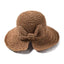 Obangbag bROWN Woman straw hat with bow