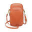 Obangbag Brown Women Cute Chic Roomy Lightweight Portable Multifunction Leather Phone Bag Crossbody Bag