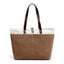 Obangbag Brown Women Daily Casual Large Capacity Lightweight Canvas Handbag Tote Bag Shoulder Bag