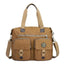 Obangbag Brown Women Large Capacity Travel Handbag Anti Splashing Water Ladies Shoulder Bag