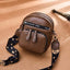Obangbag Brown Women Retro Mini Cute Stylish PU Leather Crossbody Bag Shoulder Bag
