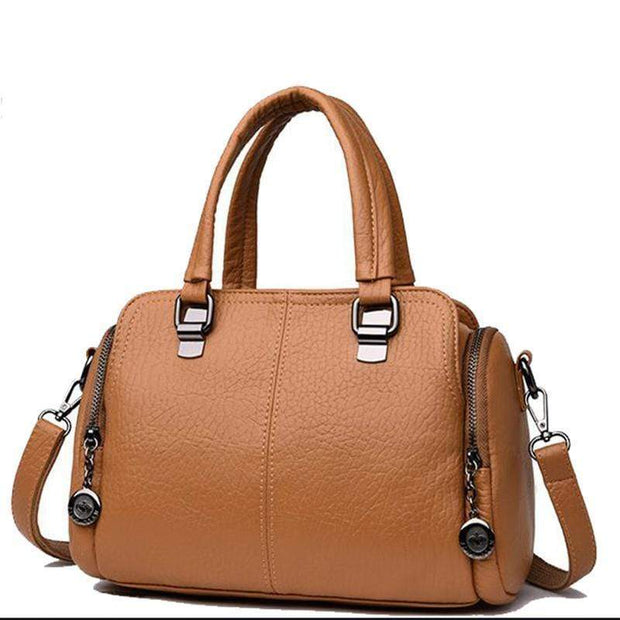 Obangbag brown Women's Handbag Solid Color All Matched Elegant Large Capacity Bag
