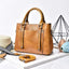 Obangbag Brown Women Simple Vintage Big Large Capacity PU Leather Handbag Crossbody Bag